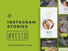 Resto Instagram Stories/ 18 Free PSD Presets Lightroom, Web Design, Le Web, Instagram Story, Photoshop, Free, Restaurant, Digital Marketing, Design Web