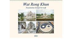 Wat Rong Khun - Faszination Tempel in weiß (Wandkalender 2021 DIN A2 quer) Cover, Books, Art, Wall Calendars, Drawing Pictures, Deutsch, Art Background, Libros, Book