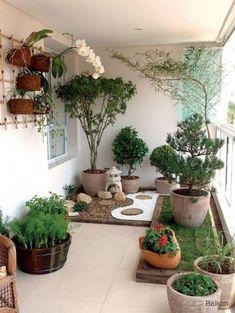 Modern Amazing Indoor Garden Ideas For A Cool Houses Modern Amazing Ind… - Garden Types Veranda Design, Terrasse Design, Balcony Design, Garden Design, Balcony Ideas, Design Jardin, Patio Design, Ideas Terraza, Estilo Interior
