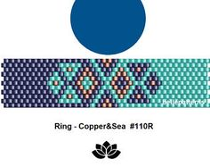 peyote ring pattern,PDF-Download, #110R, beading pattern, beading tutorials, ring pattern