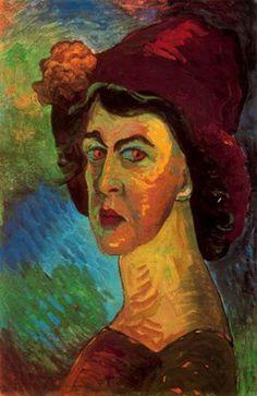 Marianne von Werefkin, Self-Portrait, 1910, 34 x 51, Städtische Galerie im Lenbachhaus, München
