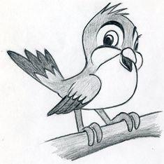 Learn To Draw Cartoon Bird – very simple, in few easy steps.