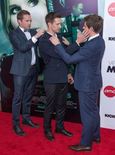 But It Was All Fun and Games as Jason, Chris, and Ryan Hansen Helped Each Other Prep For the Cameras