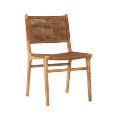 Mid Century Modern Chair Wicker Bamboo Rattan Mccobb Iron