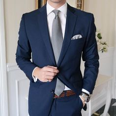 "johannchristianbuddecke: ""Another Shot Modern Mens Fashion, Mens Fashion Suits, Blue Suit Wedding, Wedding Suits, Marcelo Mello, Great Clothes For Men, Court Outfit, Terno Slim, Blue Suit Men"