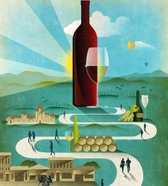 Get out on a wine walk about today!  @wine_spectator