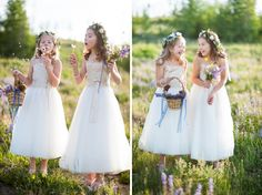 cute flowergirls