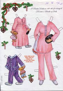 Bonecas de Papel: Aumentando a família Noel...