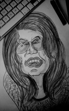 #sketch #skizze #esboço #dessin #caricatura #caricature #black #lapiz #pencil #grafito #trazos #shades #vintage #drawing #juancarlosnieves #dibujo #lines #mulher #expresión #dibujo #sketching #quicksketch #óculos