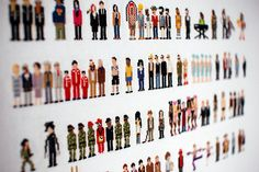 Cross stitch Minipops by Craig Robinson and Rubykhan