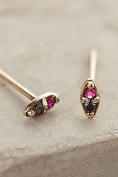 Black Diamond Ruby Earrings