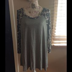 Medallion Tunic Plus size- Soft, Comfortable & Cute! Perfect for leggings! Tops Blouses