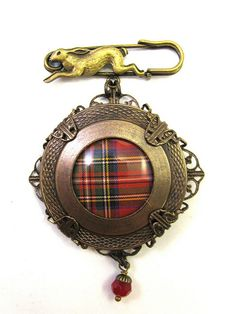 Ancient Romanced Series - Scottish Tartans - Royal Stewart in Antique Brass by DivaDesigns1, via Flickr