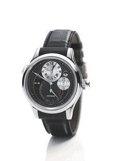 Montblanc Collection Villeret 1858 Grand Chronographe Regulateur White Gold on Watch Agora