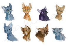 Warrior Cats Doodles by bakamiel.deviantart.com on @DeviantArt