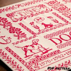 Re cross stitch sampler. Dog cross stitch pattern Animal cross stitch Folk cross stitch dog red cross stitch pattern gift for dog owner Floral cross stitch. Download this modern cross stitch pdf pattern and bring feeling of the folk in red color at your home or create an amazing gift for dog lovers.