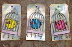 Caged birds by swedeysroost - Cards and Paper Crafts at Splitcoaststampers