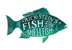 Hand lettering and illustration for book cover for Rick Stein
