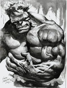The Incredible Hulk by Geof Isherwood *
