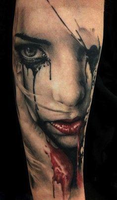 women face by Florian Karg   tattoo artist  Bayern, Germany