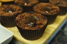 Chocolate ganache filled brownie cupcakes #ganache #brownies #chocolate #baking #cake #baking #home