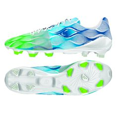 Adidas Nitrocharge 1.0 Crazylight FG Soccer Cleats (White/Solar Green/Solar Blue). Order the super lightweight Adidas Crazylight soccer cleats at SoccerCorner.com!