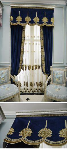 新古典 品牌大气法式客厅卧室高档奢华雪尼尔窗帘定制 迪米洛-tmall.com天猫