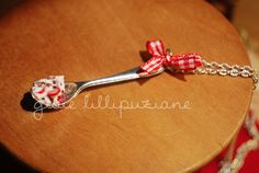 handmade necklace spoon    http://sainsgioie.blogspot.it  http://www.facebook.com/GioieLillipuziane