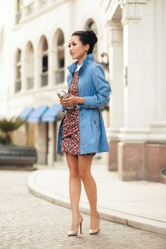 Jacket by Forever 21, dress by Carven, bag by Wanderlust + Co, shoes by Christian Louboutin. (wendyslookbook.com, October 3, 2012)