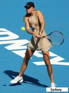 Daniela Hantuchova- In Sydney she wore Nike Sharapova Australian Open Flora dress