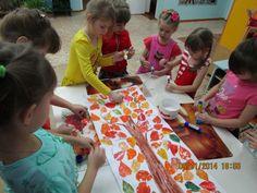 Непосредственно образовательная деятельность. Рисование в технике оттиск, отпечаток листьями «Осеннее дерево» - Для воспитателей детских садов - Маам.ру