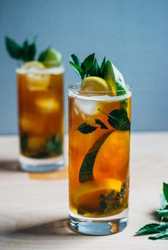 Simple pimm's cups