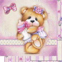 -Papel-Scrapbook-Dupla-Face-Urso-Bebe-Menina-SD-515---Litoarte