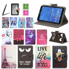 Histers Universal Cover for DEXP Ursus NS280 3G/Z280 3G/Z380 3G 8 inch Tablet Printed PU Leather Stand Case 3 Gifts