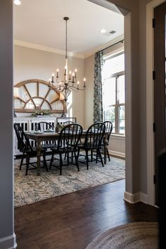 Regency Homebuilders : Dining Room, Farmhouse Style, Rustic, Shiplap, Hand Scraped Hardwood, Open Concept Living, Fixer Upper {Cross Creek - Abbington Plan}