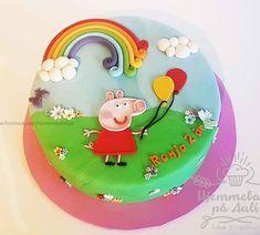 Peppa pig kake til Ronja sin bursdagen 🎁 Gratulerer med dagen Ronja! Peppa Pig, Custom Cakes, Birthday Cake, Oslo, Instagram, Food, Design, Personalised Cakes, Norway