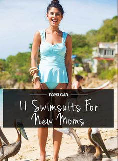8973932821511 Not sure what style to rock at the beach after-baby? Check out these new  mom bathing suits for ideas!