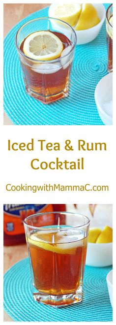 This Iced Tea and Rum Cocktail has just three ingredients and is so refreshing! #ad #MomentsToSavor @TradewindsTea