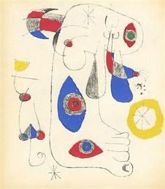 Joan Miro original lithograph for Surrealisme en 1947 Joan Miro Artwork, Miro Artist, Spanish Painters, Plate Art, Moma, Art Institute Of Chicago, Salvador Dali, Illustrators, Abstract Art