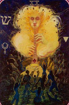 XX - Judgment - Haindl Tarot - If you love tarot, visit me at www.WhiteRabbitTarot.com