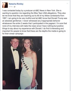 "Former Miss Teen Slams Media Against Trump: He Was ""An Absolute Gentleman"" - http://conservativeread.com/former-miss-teen-slams-media-against-trump-he-was-an-absolute-gentleman/"