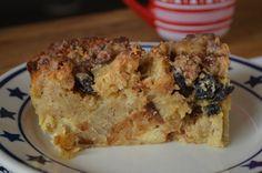 Bread Pudding aux raisins et noix de pécan