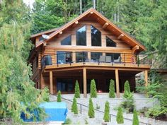 Beautiful Log Cabin On Pristine Sproat Lake! Sleeps Up To 16Vacation Rental in Port Alberni from @HomeAway! #vacation #rental #travel #homeaway