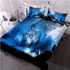 Forest Wolf Reactive Print Comforter Quilt Bedding Set for Teen Boy – utocozy Duvet Bedding Sets, Quilt Bedding, Comforters, Animal Print Bedding, Teen Boy Bedding, Wolf Spirit Animal, Cool Beds, Dream Rooms, Luxury Bedding