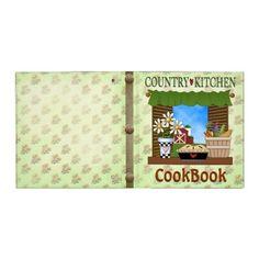 Country Kitchen Cookbook Binder