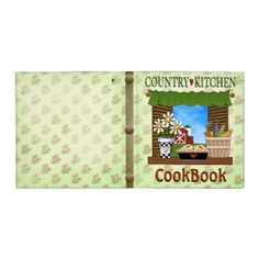 Country Kitchen Cookbook Binder