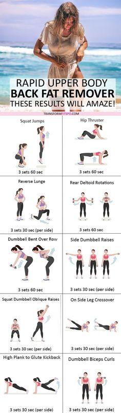 #toneupperbody #womensworkouts #backfat #femalefitness Shape up your back and upper body with this amazing workout! Results will amaze you! Repin if this workout helped you!
