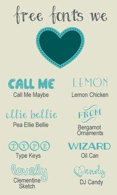 Fun Free Fonts! | DIY Trendy