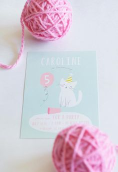 Invitation from a Kitten Party via Kara's Party Ideas | KarasPartyIdeas.com | The Place for All Things Party! (11)