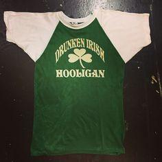 70's felt print jersey Drunken Irish Hooligan